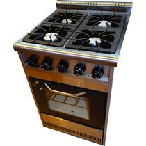 Cocina Industrial Familiar 4h 60cm. Horno Visor Nuevas