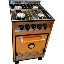 Cocina Industrial Familiar 4h 55cm. Rejillas Zincadas Nuevas