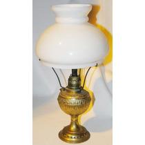 Lámpara Antigua De Kerosene Adaptada A Electricidad