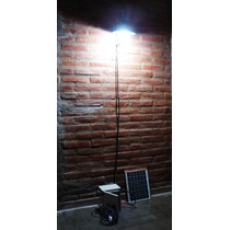 Spot De Pared Con Lámpara Led Panel Solar Batería Fotocel