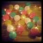 Guirnaldas 25 Bolas De Hilo !!! Lamparas Luces