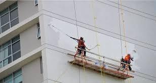 Impermeabilización Y Pintura Trabajos En Altura Con Silleta