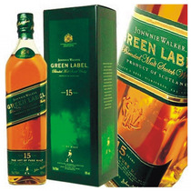 Whisky Johnnie Walker Green Label De Litro 15 Años C/estuche