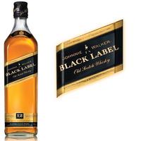 Whisky Johnnie Walker Black Label Petaca De 200cc Importado