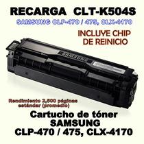 Recarga Samsung K504 Clt-k504s Incluye Chip 2500 Pag