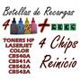 Pote Recarga Toner Color Hp Cb540a/41/42/43 X4 + 4 Chip