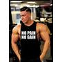 Sudadera Musculosa No Pain No Gain Corte Rustico Gym