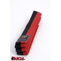 Cinto Juvenil Rojo Negro Talle 200 Cm