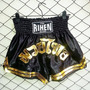 Shorts Muay Thai Rihen Negro Dorado Box Inn Office
