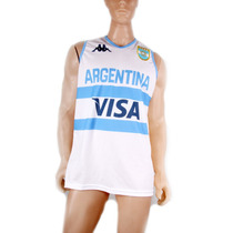 Camiseta Argentina Basquet Oficial Kappa Titular Y Suplente