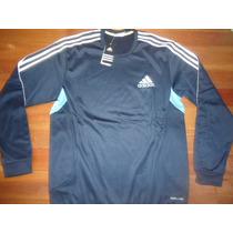 Imperdible Buzo Training Adidas Climawarm Azul Entrenamiento