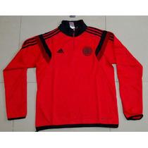 Buzo Rojo Con Cierre River Plate 2015 Adidas 100% Original