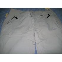 Pantalon Desmontable Talle S Color Crema Marca Montagne