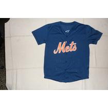Camiseta Casaca De Softball Baseball Mets