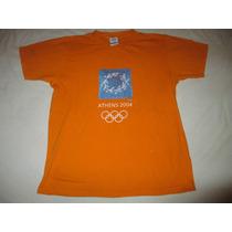 Remera De Los Juegos Olimpicos De Atenas 2004 Talle Xs