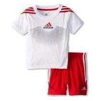 Conjunto Adidas Futbol Niños Camiseta Short Talle 4 Años