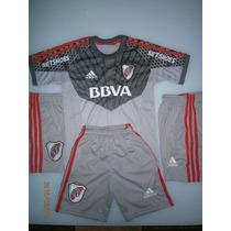 Camiseta Niño De Arquero Barovero Gris C/rojo Nueva 2016
