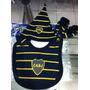 Gorro Escarpines Y Babero Bebe Boca Juniors - Oficial