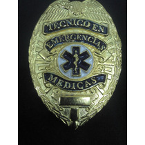 Placa De Tecnico En Emergencias Medicas