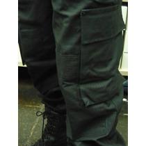 Pantalon Ripstop Policial Negro Y Azul Táctico Antidesgarro