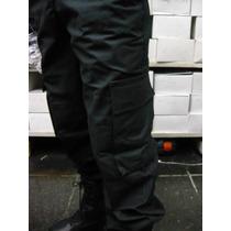 Pantalon Ripstop Cargo Negro Y Azul Fuerzas Seguridad