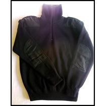 Tricota Especial Comando Con Cierre Negro Y Azul Osc