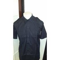 Camisa Azules Rip Stop - Mangas Cortas - Bomberos - Policia