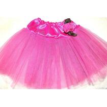 Tutu Con Flor Tela Caderin Raso Danza Ballet Soko Deportes