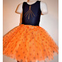 Malla Y Tutu Lunares Ballet Danza Naranja Fucsia Violeta