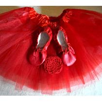 Tutu + Zapatillas Media Punta + Redecilla Ballet Danza Soko