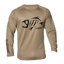 Remera Gloomis Compass Ls Tee Color Sand Talle X X L