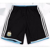 Short Selección Argentina Oficial Suplente 2014 Adidas