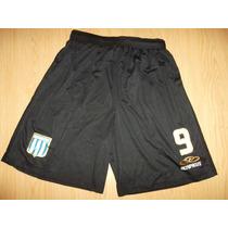 Shorts Con Numero De Racing Olimpykus Negro Unicossss