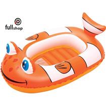 Inflable Flotador Bote Pez Pileta Niños 102x69 Bestway 34089