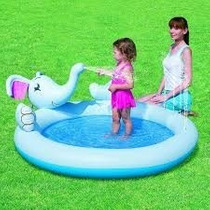 Interactive Elephant Play Pool 53034 Bestway Splash And Play