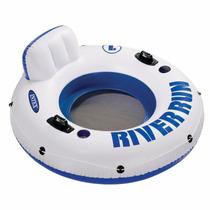 Colchoneta Sillon Flotador Inflable Intex 135cm River Run