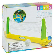 Set Voley Inflable Intex Para Piletas Red Y Pelota Coolwood