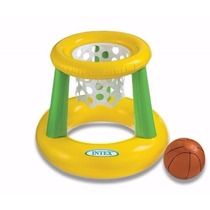 Aro Basquet Inflable Intex C/red Y Pelota Para Pileta Mvhm