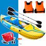 Kayak Canoa Inflable 2 Persona Sevylor Tahiti + Inflador 12v