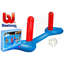 Inflable Red Voley Pileta + Pelota Bestway Splash And Play