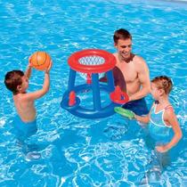 Aro De Basket + Pelota Inflable Para Pileta Bestway Verano