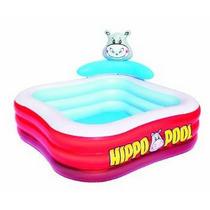 Pileta Inflable Hippo Chicos Jardín 203x107 Cm Bestway 53050