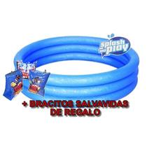 Pileta Bebe 102x25 Splash And Play + Salvavidas De Regalo