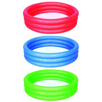 Pileta Inflable Colores Bestway 51024 3 Anillos 102 X 25 Cm