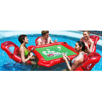 Mesa Poker Inflable Para Pileta Colchoneta Reposeras Bestway