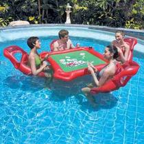 Mesa Poker C/ 4 Sillas Inflables Bestway - La Golosineria