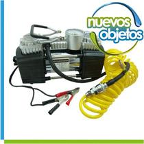 Compresor Profesional Doble Piston Automobiles Y Bicicletas