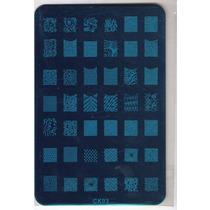Placa Grande Diseños Uña Entera Nail Stamping Ydnis