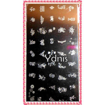 2 Placas Mediana 48 Diseños Stamping + 5 Esmaltes Ydnis