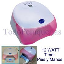 Cabina Led 12 Watt C/ Timer + Esmalte Semi Permanente Uñas